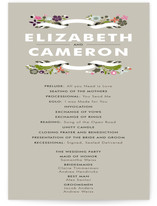 Banner and Branches Wedding Programs